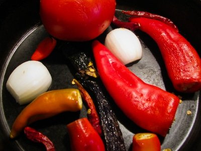 Roasting Salsa Ingredients