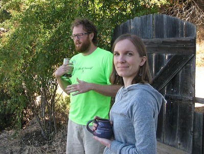 John and Anneliese at Ecology Action