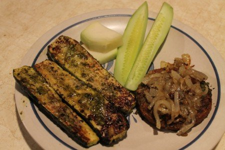 Zukes, Cukes, Kohlrabi and Veggie Burger