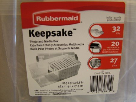 Rubbermaid 4487 Keepsake Box