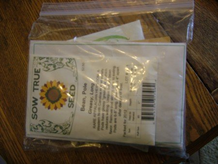 Seeds In Zip Lock Bags