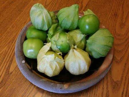 Green and Yellow Tomatillos