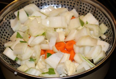 Veggies in the Steamer